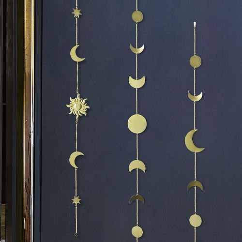 Wall Decoration Metal Moon Sun Star Shape Bedroom Bedside Background Home Ornament Dorm Decor