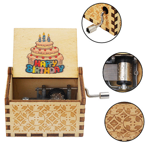 Drop Shopping Wooden Carved Music Box Hand-cranked Musical Box  Potter Theme Music Box Birthday Gift Christmas Gift Box Gift