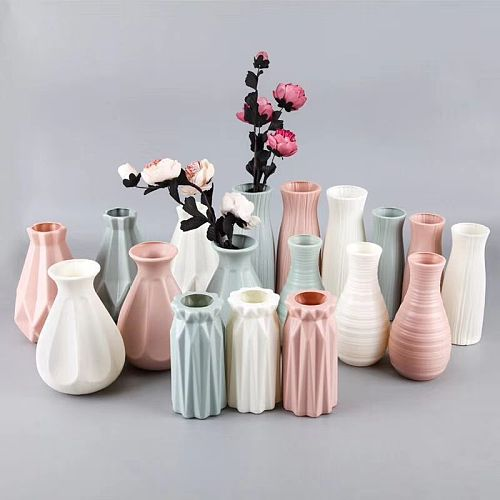 Modern Flower Vase Home Flower Arrangement Living Room Origami Plastic Nordic Style Home Decoration Ornament Home Decor Hot Sale