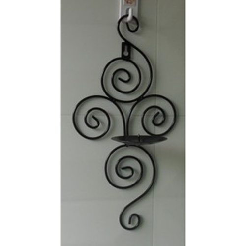 Home Candlestick Holders Handmade Iron Hanging Wall Sconce Candle Holder Shelf Furnishing Articles Decoration Valentine Gift