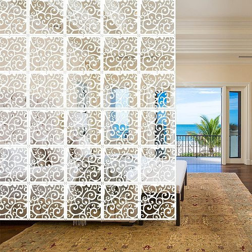Indoor Decoration 4pcs/lot  Display Crane Crane Crane Diaphragm Art and Decor of White Plastic Wood yarn room divider