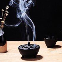 Home Black Cast Iron Lotus Shaped Aroma Diffuser Aroma Diffuser Frame Incense Cone Frame Creative Aromatherapy Smoke Incense
