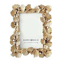 4/6 Inch Creative Resin Golden Ginkgo Leaf Frame Vintage Photo Frame Retro Resin Photo Frame Wedding Home Decor