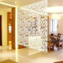 Flower Hollow Hanging Screen Curtain Room Divider Partition Wall Home 3 Color Home Living Room Decorative Screen Curtain