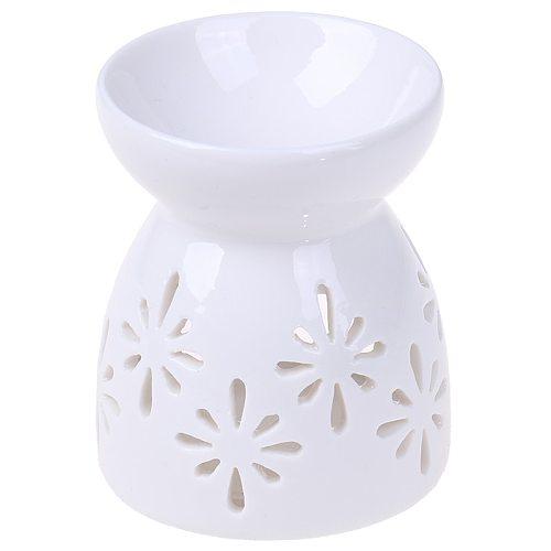 1pc Ceramic Candle Holder Oil Incense Burner Essential Aromatherapy Oil Burner Lamps Porcelain Home Living Room Decoration
