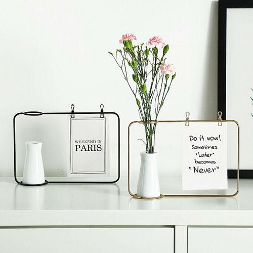 New Creative Iron Photo Frame Stand Postcard Clip Holder Home Decor Fashion Design Family Friends Photo Frame