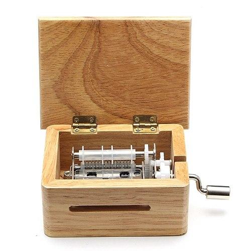15 Tone Hand Music Box With 10 Paper Tape Puncher Wooden Box And Music Sports Box Paper With Gift Hand Shake Music Box Gift