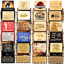 Hot Products GT Wooden Hand Crank Music Box You Are Our Sunshine LOVE DAD LOV MOM Halloween Birthday Christmas Gift