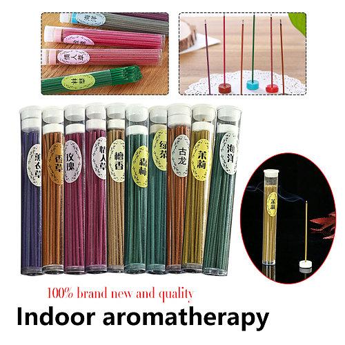 50 piece Aroma Sleep Health Incense Sticks Indoor Natural Incense Burner Sticks Sandalwood Rose Green Tea Aromatherapy