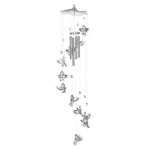 Creative Antique Bells Wind Chimes Door Hanging Home Decor Silver