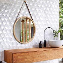 European Bathroom Mirror Wall Wear Mirror Nordic Decorative Round Mirror Wall Hanging Cosmeticmirror Round Big
