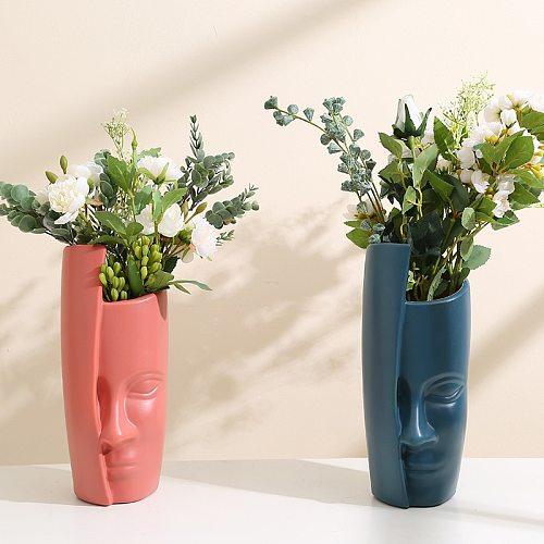 European creative Fase Vase Decoration Home Decor Living Room Plastic Vase Unbroken Wedding Hydroponic Flower Arrangement