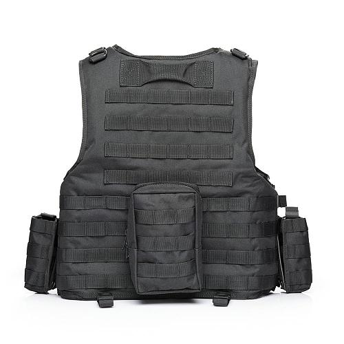 YAKEDA 2019 Military Tactical Vest Camouflage Body Armor Sports Wear Hunting Army Molle police bulletproof  Black