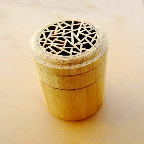 Natural Bamboo Incense Burner 2 Level Incnese Coil Burner Censer Home Decor Free Shipping