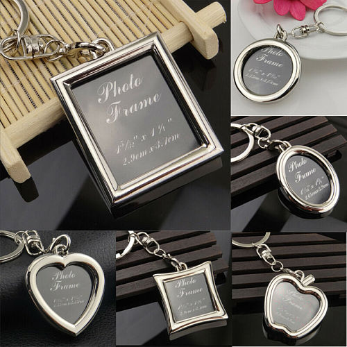 1PC Metal Alloy Originality Photo Picture Frame Keyring Keychain Lover Gift Banquet Souvenirs Picture Frames Wall Photo Frame