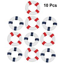 10pcs Mini Swimming Ring Mini Life Buoy Education Fun Lightweight Cute Figurine Craft Toy Miniature Toy Home Decorations Home