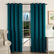 MAKEHOME Thick Fabric Solid Color Blackout Curtain Finished Window Blinds Drapes Modern Curtains for Bedroom Living Room Kirchen
