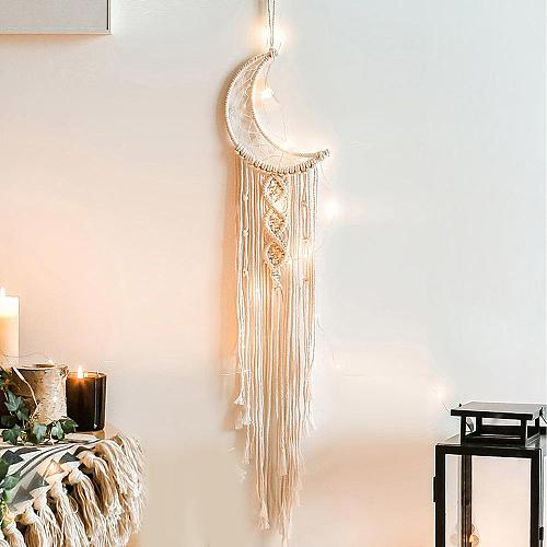 Japanese Style Simple Dream Catcher Bedroom Wall Hanging Children's Room Home Bohemian Decoration Accessories Moon Aesthetics