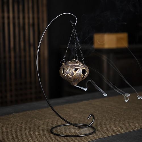 Vintage Ceramic Backflow Incense Burner Hanging Incense Burner Holder for Home Office Tea House Decoration