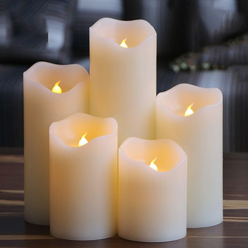 Flameless Uneven Edge Electrical Paraffin Wax Led Candle For Wedding Party/Home/Christmas/Decoration And Lovely Night Light