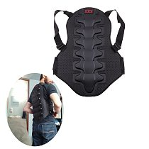 1x Motorcycle Bicycle Back Protector Motorbike Racing Skiing Riding Skating Anti-fall Vest Protective Gears Armor for Men Women