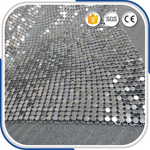 4mm Sliver Metallic Sequin cloth 1.5mx0.45m,Metal Fabric Cloth Free Shipping