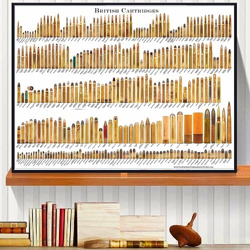Bore Bullets Chart Details Canvas Art Print Painting Poster Wall Pictures For Living Room Home Decoration Wall Decor No Frame