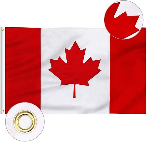 Canada Flag 36x60in National Banner Polyester With Grommets Canadian Flag Outdoor Polyester Maple Leaf Banner Bandera Accessorie
