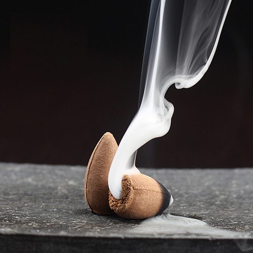 10pc cone incense waterfall Retro Handmade Porcelain Ceramic Backflow Incense Burner Buddhist Decoration Home Aromatherapy#40