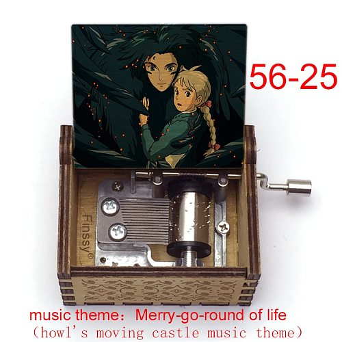 Color Print Anime Howls Moving Castle Music Theme Merry Go Round of Life Music Box Kids Toy Birthday New Year Christmas Gift