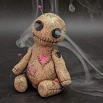 Voodoo Doll Cone Burner Incense Burner Desktop Resin Ornament Handmade Carft Ornaments Decorative Props Home Decoration Censer
