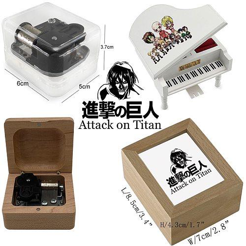 4 styles Guren no Yumiya music box anime attack on titan music theme Wind Up for kids toys classmate friends Christmas Gift