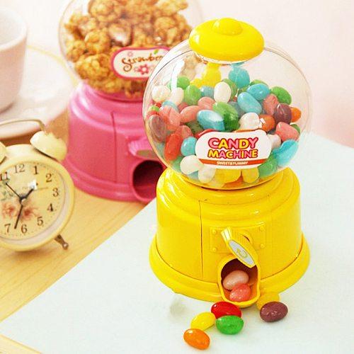 Korean vending Sweets Candy Machine Piggy Bank deposit box children's money saving bank alcancia piggy Kids lovers gift