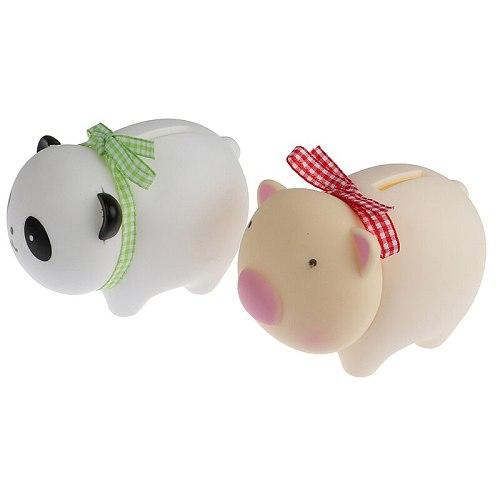 Cute Panda Shape Coin Bank Cartoon Piggy Bank Plastic Money Box Tabletop Decoration Photography Props