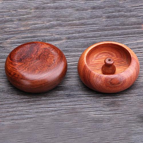 1pc Rosewood Incense Burner Stick Holder Bowl Shape Incense Stand Holder Censer Home Decoration Smell Aromatic Incense Burners