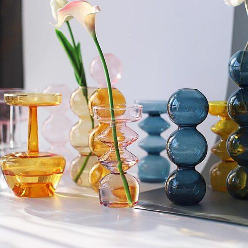 Home Decor Glass Vase Room Decor Crystal Vase Modern Hydroponic Plants European Fresh for Weddings Events Parties Creative