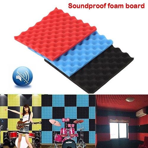Soundproof Tiles Sturdy Square Classroom Sound Absorption Tiles Decor Sound-Absorbing Foam Sticker KTV Muffling Foam Panel