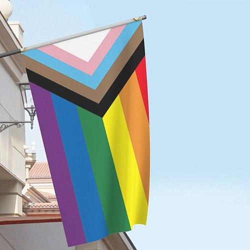 90X150CM Rainbow LGBT Lesbian Gay Pride Flag LGBT Lesbian Gay Pride Flag Home Decoration Accessories