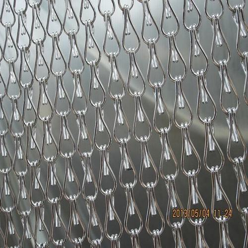 Anti-corrosion Silver Aluminum Curtains in Chain for door and windows