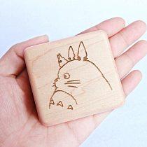 Sinzyo Handmade Wooden Tonari No Totoro Music Box Wood Carved Mechanism Musical Box Gift For Christmas Valentine's day, Birthday