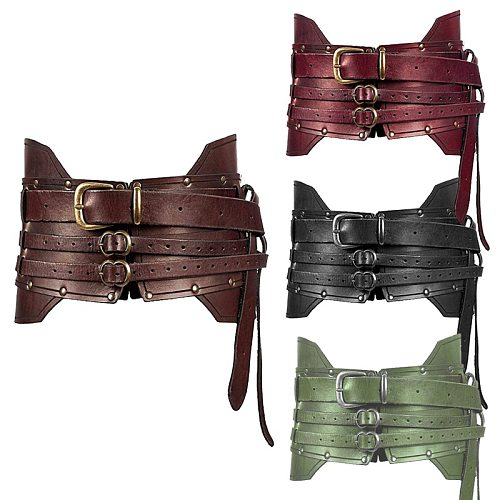 Medieval Accessories Vintage Wide Belt Men Knight Armors Medieval Viking Pirate Costume For Adult Cosplay Women Fancy Props
