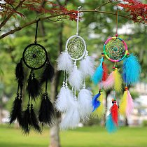 Feathers Flying Wind Chimes Dream Catcher Handmade Gifts Dreamcatcher Home Bedroom Wall Hanging Decoration