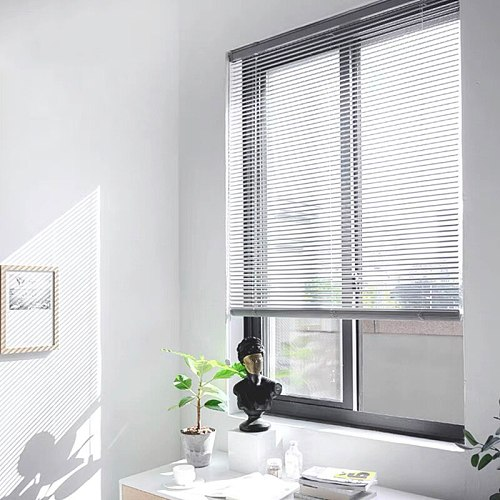 Aluminum Blinds Venetian 25MM Window Horizontal Light Flitering Roller Shutter Waterproof Curtain for Office Hotel