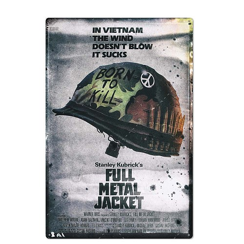 Classic Movie Metal Sign Metal Poster Tin Sign Plaque Metal Vintage Wall Decor for Bar Pub Club Man Cave Metal Signs(20x30cm)