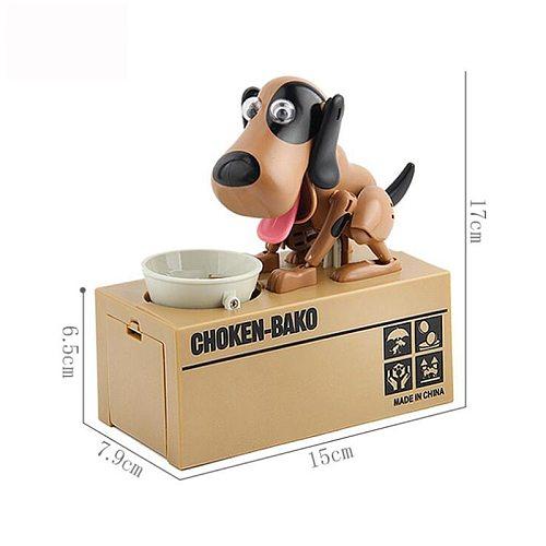 Greedy Robotic Doggy Bank Choken Bako Puppy Money Box Hungry Dog Coin Bank Automatic Money Saving Pot Dog Lovers Money Box Gift
