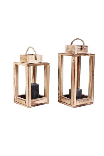 2 pcs Wooden Lantern Decorative Candle Holder for Home and Office Decor Custom Design Handmade Romantic Ambience