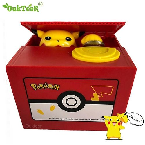 Panda Cat Piggy Bank Automatic Stealing Coin Money Saving Box Coins Storage Box Christmas Birthday Gift for Kids USD EUR