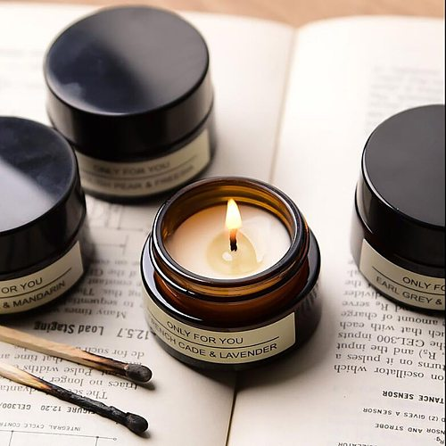 Candle Aromatherapy Soy Wax Creative Test Frag-rance Glass Candle Holder Party Candle Scented Candle Making Wedding Decoration