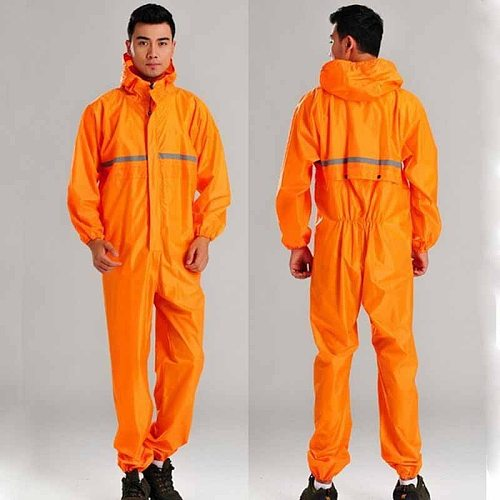 Fashion Motorcycle Raincoat Motorbike Conjoined Motocross Overalls Men Women Fission Rain Suits Clothing