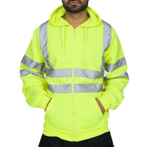 JODIMITTY 2021 New Men's Road Work High Visibility Pullover Casual Long Sleeve Hoody Tops Men Jacket Hooded Sportswear